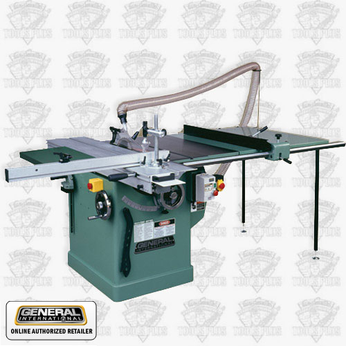 General woodworking machinery 50 560am1 3 hp 220v 1 ph for 10 sliding table saw