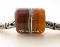 Chocolate Butternut European Charm with Fine Silver