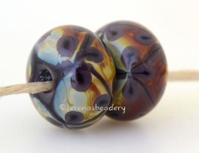 Deep Purple and Raku Flowers