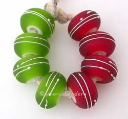 Green & Red Fine Silver Wraps