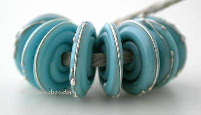 Light Turquoise Fine Silver Disks