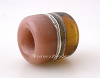 Maple Chai Silvered Ivory Tube Big Hole Bead