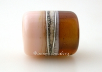 Maple Ginger Silvered Ivory Tube Big Hole Bead