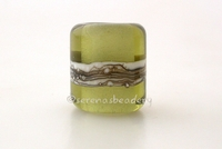 Mojito Silvered Ivory Tube Big Hole Bead