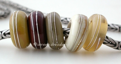 Neutral Sampler Fine Silver Wrap European Charm Bead