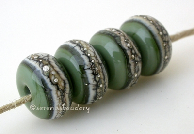 Olive Green Granite with Fine Silver