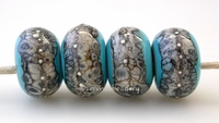 Turquoise Granite with Fine Silver