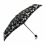 Marimekko Mini-Unikko Black Mini-Manual Umbrella