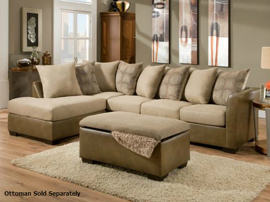 Harrison Taupe Sectional Sofa : taupe sectional - Sectionals, Sofas & Couches