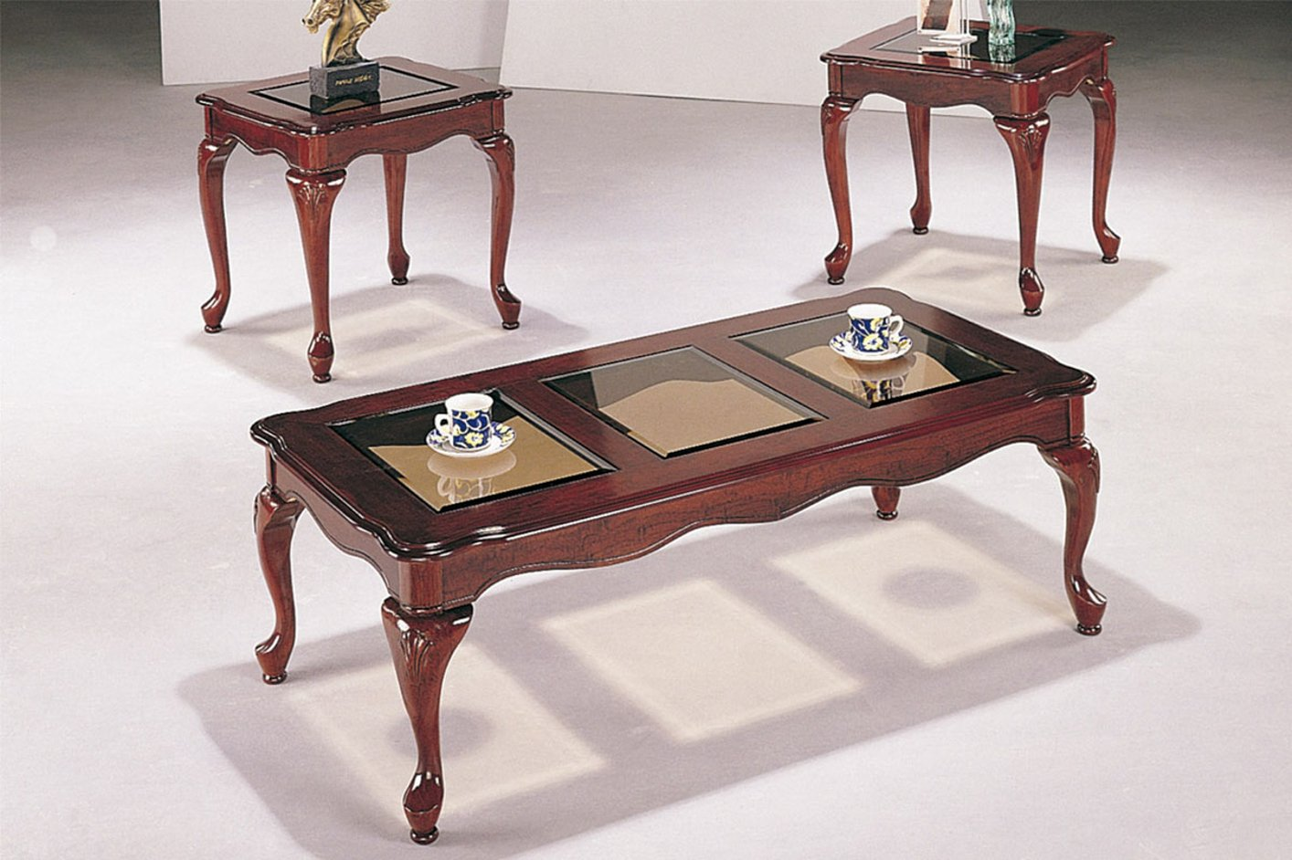 Brown Wood Coffee Table Set Steal A Sofa Furniture