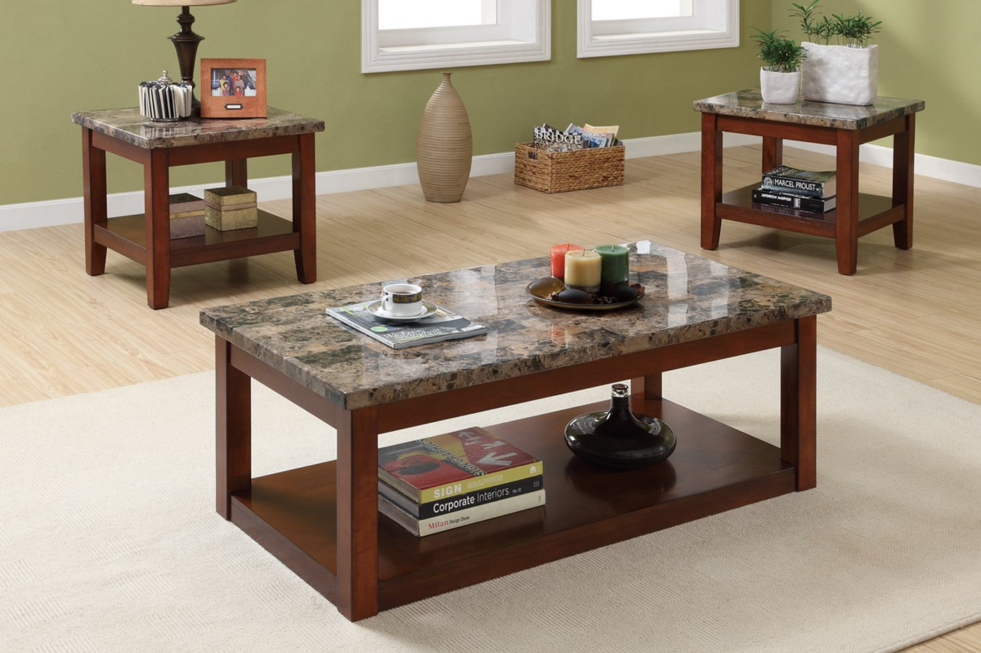 brown marble coffee table set steal a sofa furniture outlet los