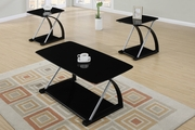 Black Metal Coffee Table Set