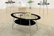 Silver Metal Coffee Table Set