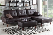 Adalene Brown Leather Sectional Sofa