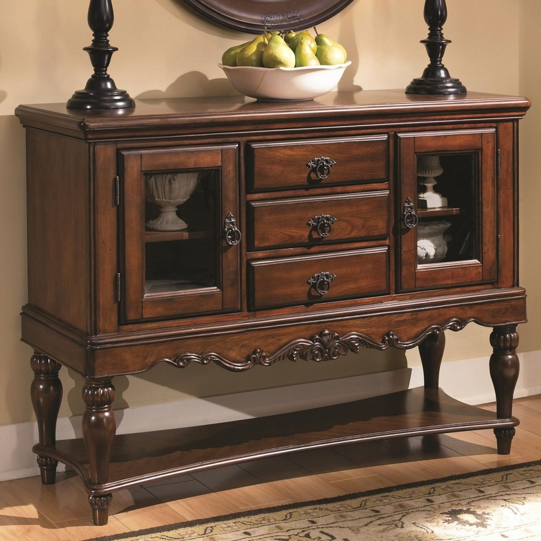 Brown Wood Server Steal A Sofa Furniture Outlet Los