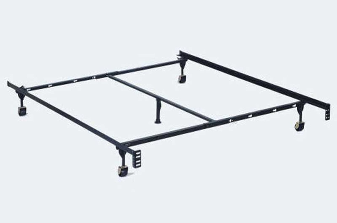 Adjustable Full Queen Bed Frame : Black metal twin or full queen size bed frame