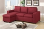 Akeneo Red Fabric Sectional Sofa