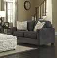 Alenya Grey Fabric Loveseat