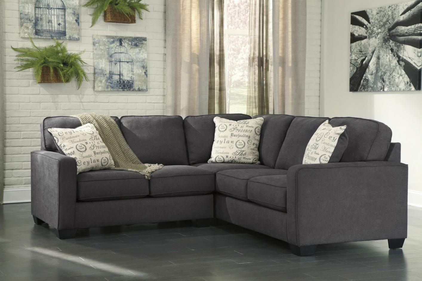 Alenya Grey Fabric Sectional Sofa : sectional couches los angeles - Sectionals, Sofas & Couches