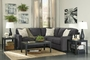 Alenya Grey Fabric Sectional Sofa