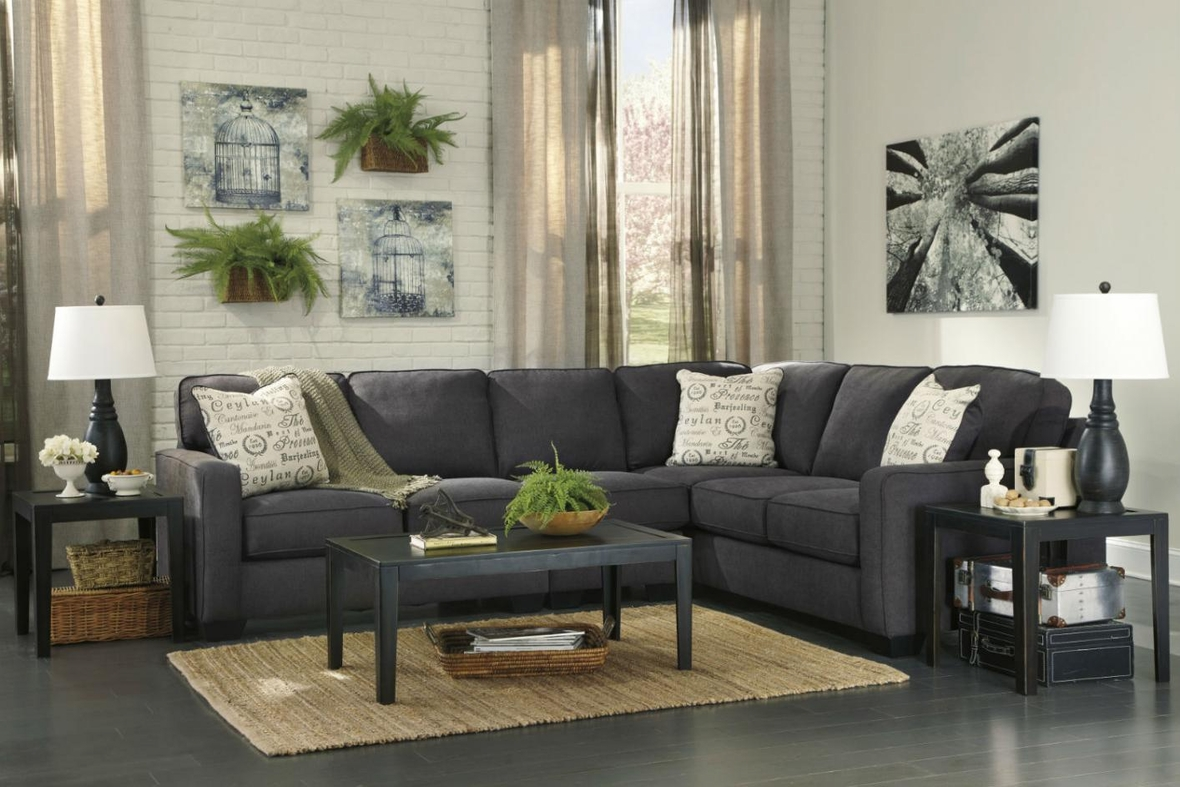 Signature Design By Ashley Alenya 1660146 1660167 1660155 Grey Fabric Sectional Sofa Steal A