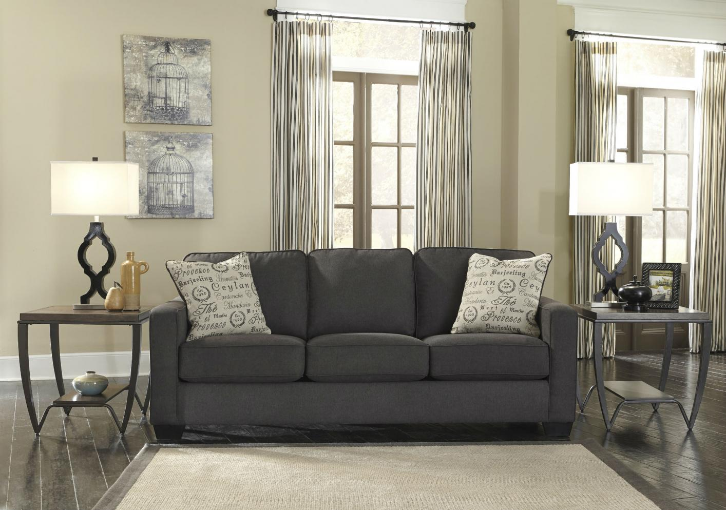 signature designashley alenya 1660139 grey fabric sofa bed