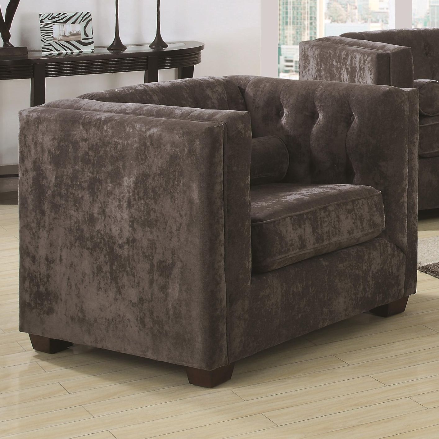 Alexis Grey Fabric Chair Steal A Sofa Furniture Outlet Los