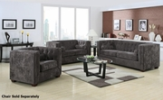 Alexis Grey Fabric Sofa and Loveseat Set