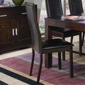 Anetta Dark Cappuccino Chairs (Min Qty 2)