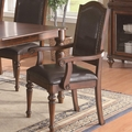 Anson Rich Brown Arm Chairs (Min Qty 2)
