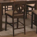 Antoine Walnut Wood Pub Stool (Min Qty 2)