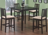 Archer Dark Cappuccino Wood Pub Table Set