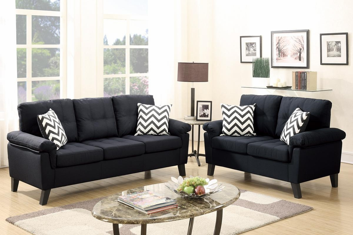 Black Fabric Sofa And Loveseat Set Steal A Sofa Furniture Outlet Los Angeles Ca