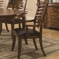 Avery Brown Oak Arm Chair (Min Qty 2)