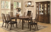 Avery Brown Oak Wood Dining Table Set