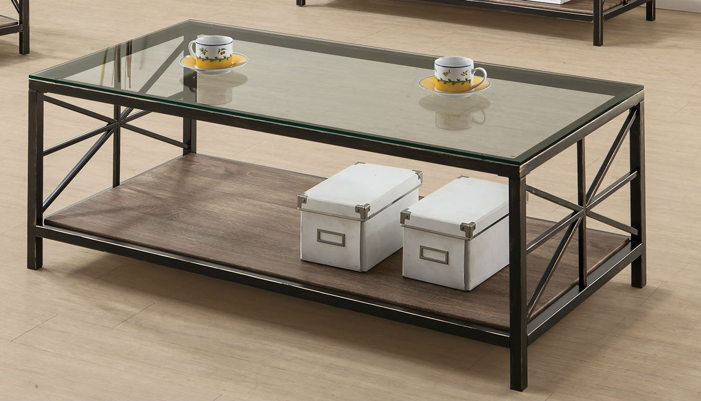 Avondale Black Glass Coffee Table