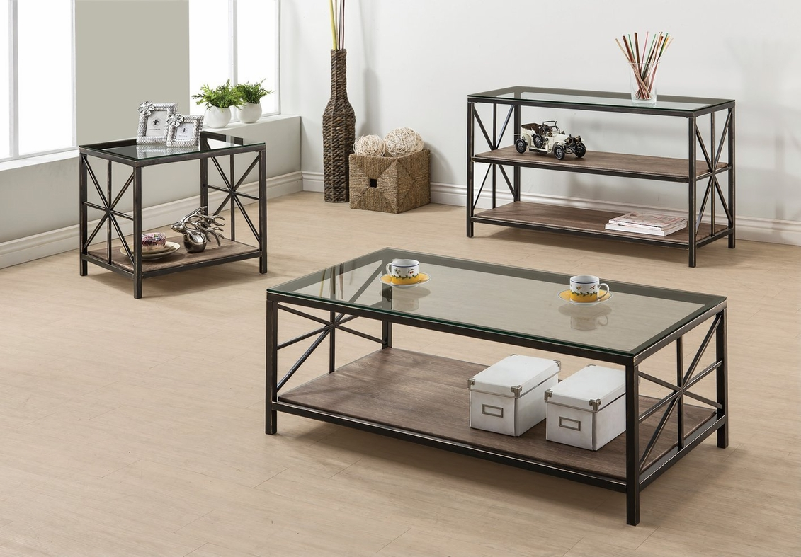 Avondale Black Glass Sofa Table