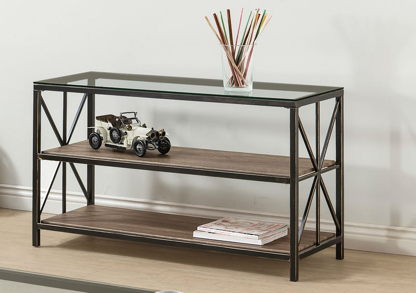 Glass Sofa Table avondale black glass sofa table - steal-a-sofa furniture outlet