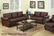 Baron Brown Leather Sofa and Loveseat Set