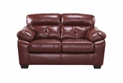 Bastrop Red Leather Loveseat