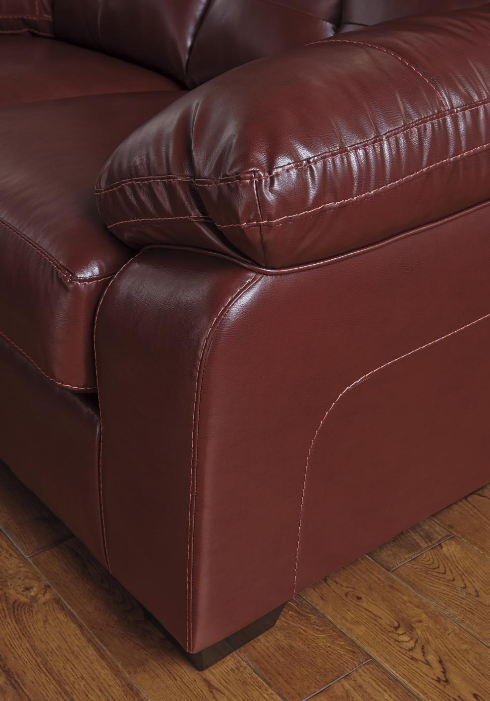 Bastrop Red Leather Sofa Steal A Sofa Furniture Outlet