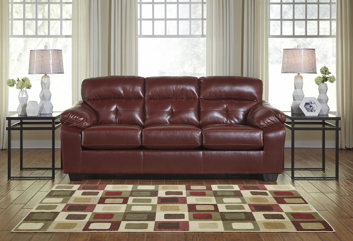 Bastrop Red Leather Sofa Bed Steal A Sofa Furniture