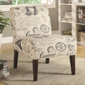 Beige Fabric Accent Chair