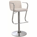 Beige Fabric Bar Stool