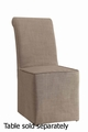 Beige Fabric Dining Chair