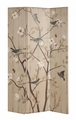 Beige Fabric Folding Screen