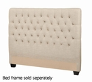 Beige Fabric Headboard