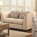 Siana Beige Fabric Loveseat
