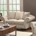 Willow Beige Fabric Loveseat