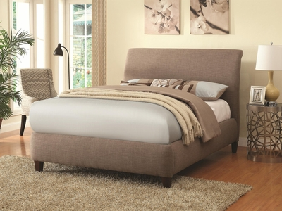 Beige Fabric Bed